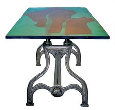 Adjustable Height Cast Iron Trestle Base Custom Length Classic Drake U. Dining Table With Bench, Trestle Table, Counter Height Table, Cast Iron Table Legs, Wrought Iron Console Table, Table Maker, Restaurant Furniture, Industrial Table, Foot Rest