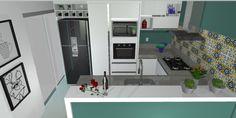 Cozinha - Azul nas paredes Joziani Correa