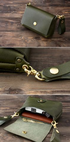 """Hobo style purse are always created from softer substances presenting them the label """"slouchy look"""". Leather Belt Pouch, Leather Belts, Leather Purses, Leather Handbags, Hip Bag, Leather Bags Handmade, Leather Projects, Small Leather Goods, Leather Accessories"""