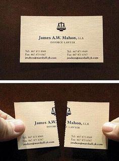 Tarjeta de visita Abogado especializado en divorcios Fuente: Buena Publicidad @Buenapublicidad