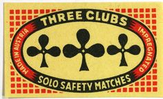 Three Clubs - Solo Safety Matches - Austria