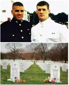 Travis Manion and Brendan Looney were roommates and close as brothers at the Naval Academy. One went to Iraq, one to Afghanistan. Both died in action and lay side-by-side in Arlington.