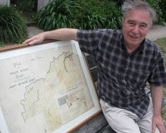 VALLEY VIEW: Collector Ross Edmonds with his rare map, circa of pioneer John Bingle's Puen Buen estate, near Scone. Valley View, Local History, News Online, Entertaining, Map, World, The World, Location Map, Maps