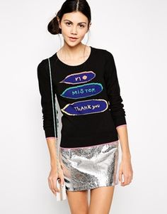 Sonia by Sonia Rykiel Jumper with Mister Slogan