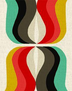 Inaluxe Retro Print Design / Love the color scheme!