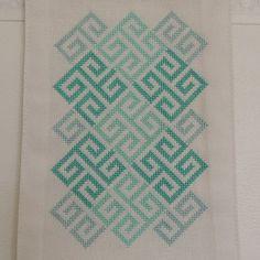 Lindisfarne Celtic Geometry modern cross by HawthornTreeDesigns Celtic Patterns, Modern Cross Stitch Patterns, Celtic Designs, Blackwork Embroidery, Hand Embroidery, Embroidery Designs, Celtic Cross Stitch, Palestinian Embroidery, Celtic Art