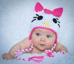 PDF PATTERN for Crocheted Baby Hello Kitty by NanasKnottyCreations, $3.99