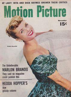 vintage movie magazines | NOV 1954 MOTION PICTURE vintage movie magazine DEBBIE REYNOLDS | eBay