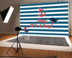 Ahoy It's A Boy Scene Setter; Military baby shower by on Etsy Baby Shower Gender Reveal, Baby Shower Themes, Baby Boy Shower, Baby Shower Decorations, Baby Shower Gifts, Sea Decoration, Boy Decor, Baby Showers, Shower Ideas