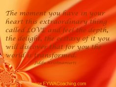Unconditional love it is. It starts within and then we can attract and manifest.