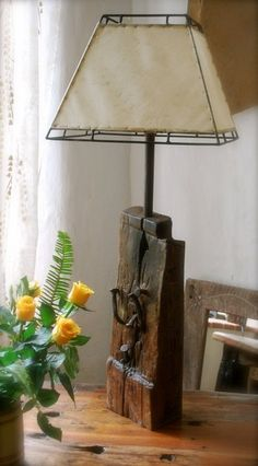 Driftwood Chandelier Driftwood - Driftwood 4 Us Rustic Lamps, Rustic Lighting, Vintage Lighting, Interior Lighting, Wood Lamp Base, Table Lamp Wood, Wooden Lamp, Driftwood Chandelier, Driftwood Table