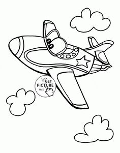funny jet plane coloring page for kids transportation coloring pages printables free wuppsy