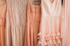 peach bridesmaid dresses | Haley Sheffield #wedding