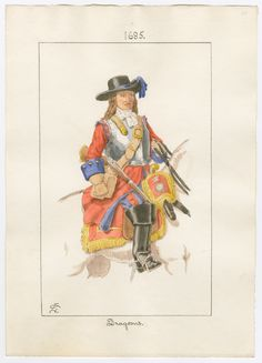 British; Dragoon(unspecified regiment) 1685 by Charles Lyall