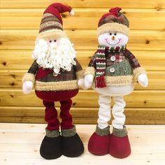 Adornos Navidad Christmas Decoration for Home New Year Santa Claus Snowman Dolls Christmas Stage, Christmas Moose, Christmas Sewing, Christmas Door Decorations, Christmas Tree Ornaments, Christmas Crafts, Sock Snowman Craft, Snowman Crafts, Moose Crafts