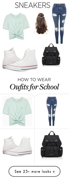 """back ta school"" by maeganschoolfield on Polyvore featuring Converse, Topshop, ASOS and Burberry"