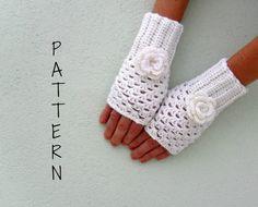 Crochet fingerless gloves mittens wrist warmer PDF by yoghi911
