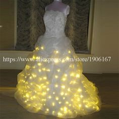 7511d1480e4 Led Luminous Wedding Dress LED Light Up Growing Evening Costume Stage Suit  Party For Club Bar Christmas Wedding Decoration