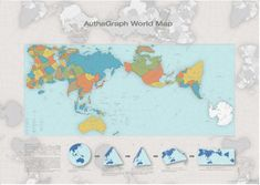 The world map: Continents to show their true distance from one another