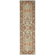Safavieh Handmade Heritage Timeless Traditional Blue/ Brown Wool Runner (2'3 x 20') | Overstock.com Shopping - The Best Deals on Runner Rugs