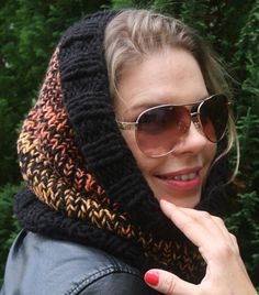 A personal favourite from my Etsy shop https://www.etsy.com/uk/listing/551054645/snood-knitted-snood-head-scarf-hooded