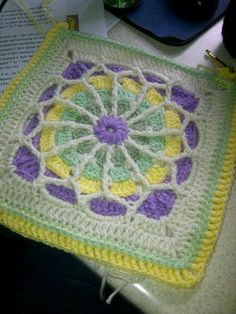 "Tangled Web Crochet 12"" Block. ~ color Inspiration"