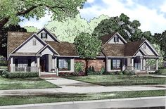 Duplex Plan chp-53442 at COOLhouseplans.com