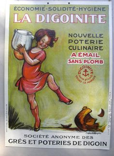 Large french 1940's advertising carboard shop by sweetbrocante
