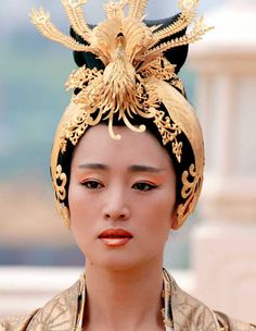 China ..Famous Actress Gong Li as the empress in Curse of the Golden Flower movie .