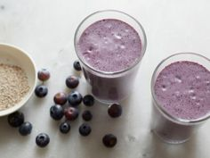 This Blueberry and Chia Seed Smoothie is simple and nutritious. Famous for their endurance-supporting qualities, chia seeds also give the smoothie an Omega-3 boost and provide fiber and protein that can help keep sippers satisfied.