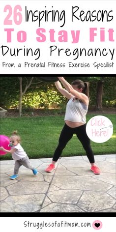 Staying active during pregnancy is not only physically challenging but it is also a little scary. However, the benefits of prenatal exercise extended beyond just mama. Discover 26 benefits of prenatal fitness for both you and your developing baby! Pregnancy Workout Videos, Exercise During Pregnancy, Prenatal Workout, Prenatal Yoga, Pregnancy Health, Pregnancy Care, Post Pregnancy, Pregnancy Checklist, Ab Exercises For Pregnancy