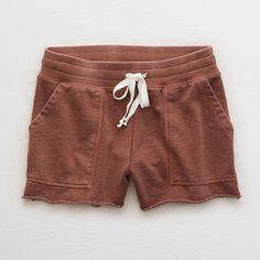 Aerie Fleece Short ($22) via Polyvore featuring shorts, red, red short shorts, short shorts, red shorts, fleece shorts and aerie shorts