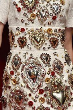 Dolce & Gabbana Spring 2015 - sacred heart encrusted dress