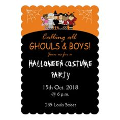 #5x7 Invitation Scalloped - #halloween #party #stuff #allhalloween All Hallows' Eve All Saints' Eve #Kids & #Adaults
