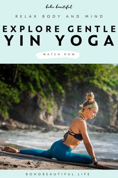 This 30 minute Yin Yoga class for everyone is a perfect way to relax your body and mind and let go of any unwanted tension in your muscles. Beautiful Yoga Poses, Boho Beautiful, Yoga Videos, Workout Videos, Yoga Yin, Namaste Yoga, Yin Yoga Benefits, Yoga Fitness, Workout Fitness