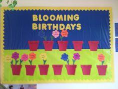 This is my version of a pin I saw. Preschool Birthday Board, Birthday Bulletin Boards, Classroom Birthday, Infant Classroom, Birthday Wall, Preschool Bulletin Boards, Classroom Door, Classroom Setup, Daycare Crafts