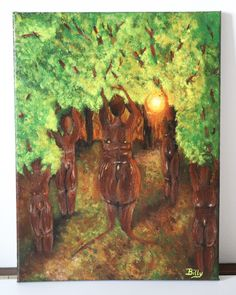 Forest painting 30x40cm ©Billy Forest Painting, Acrylic Painting Canvas, Art, Art Background, Kunst, Forest Pictures, Performing Arts, Forest Drawing, Art Education Resources