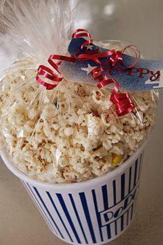 kristy.makes: recipe: white chocolate popcorn with m