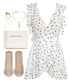 """Untitled #4451"" by magsmccray on Polyvore featuring WithChic, Balenciaga, Aquazzura, Ettika, Magda Butrym and Chloé"