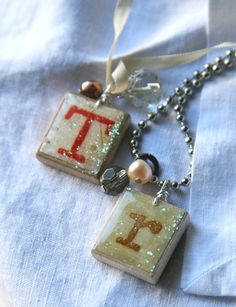 Scrabble Pendants. Make it your own by using whatever image tickles your fancy in place of the letters!