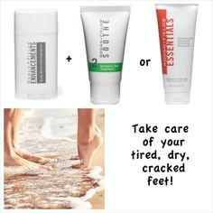"Pamper your tired feet! Get ready for Summer fun with RODAN + FIELDS ""ENHANCEMENT"" Body Micro-Dermabrasion"" + ""SOOTHE #2"" or ""ESSENTIALS Body Moisturizer! PM me today for details. No Obligation! Just great information! http://asavage.myrandf.com"