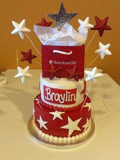 American Girl Cake too cute!!