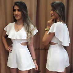image of simplicity Girls Fashion Clothes, Girl Fashion, Fashion Looks, Fashion Outfits, Womens Fashion, Fashion Design, Rompers Women, Jumpsuits For Women, Mode Glamour