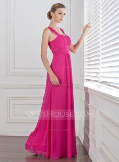 da6ee32f1b7 A-Line Princess Sweetheart Floor-Length Chiffon Bridesmaid Dress With  Ruffle (007005310