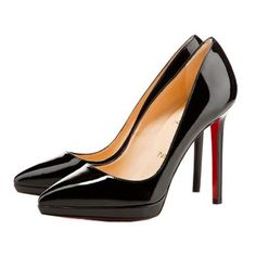 Christian Louboutin Pigalle Plato 120mm Pumps Black EEH fashion shoes, fashion women shoes