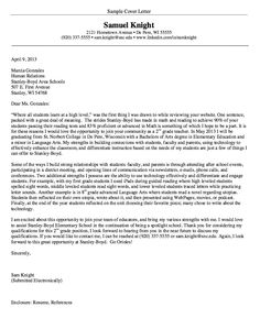 student teaching cover letters