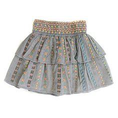 Antik Batik Grey Embroidered Skirt #ladida #ladidakids ladida.com