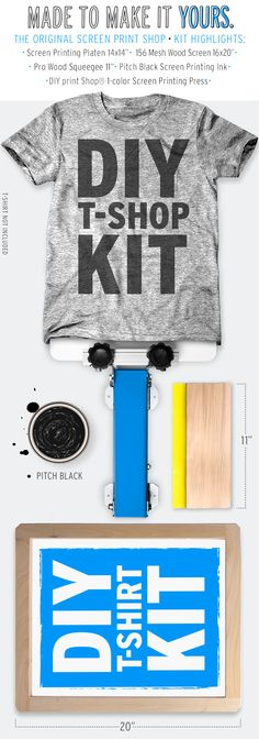 1000 images about diy kits screen printing on pinterest for Diy screen printing t shirts