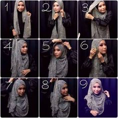Gorgeous & Classy Hijab Look Hijab Turban Style, Hijab Chic, Hijab Outfit, Simple Hijab Tutorial, Hijab Style Tutorial, Islamic Fashion, Muslim Fashion, Women's Fashion, Modest Fashion Hijab