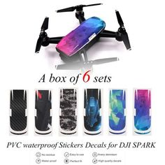 Drone Protective Carbon Fiber Sticker Skin Cover Waterproof Sticker for DJI Spark RC Drone Fpv Drone, Drones, Dji Spark, Body Stickers, Shell, Waterproof Stickers, Drone Photography, Pvc, Carbon Fiber